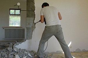Демонтаж стены